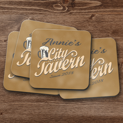 City Tavern Personalized Coaster Set