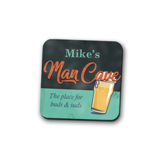 Personalized Man Cave Coaster Set