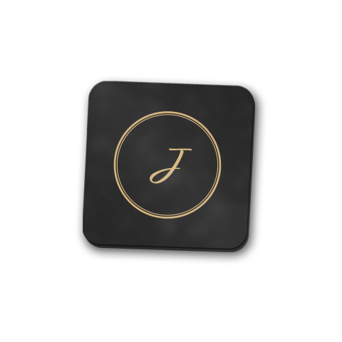 Gyre Monogram Coaster Set
