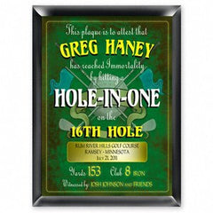 Personalized Hole in one Golf Plaque