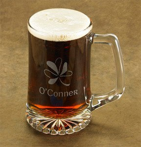 Personalized Shamrock Beer Mug