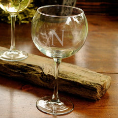 Personalized Red Wine Glass