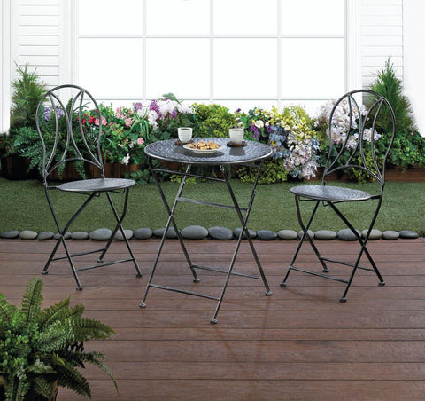 Hammered Texture Patio Set