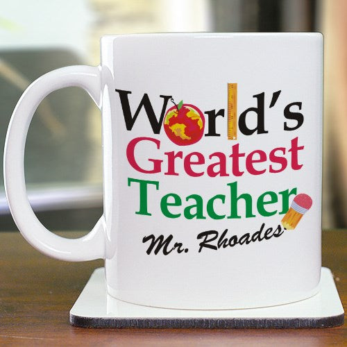 World's Greatest Teacher 11oz Personalized Coffee Mug
