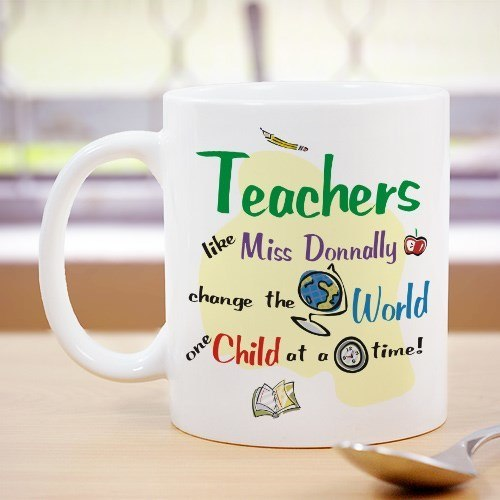 Change the World Personalized 11oz Teacher Coffee Mug