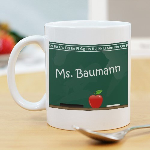 Chalkboard Teacher Personalized 11oz White Coffee Mug