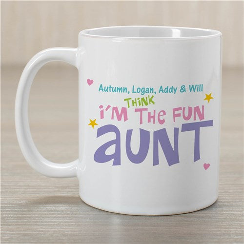 Personalized Fun Aunt Coffee Mug
