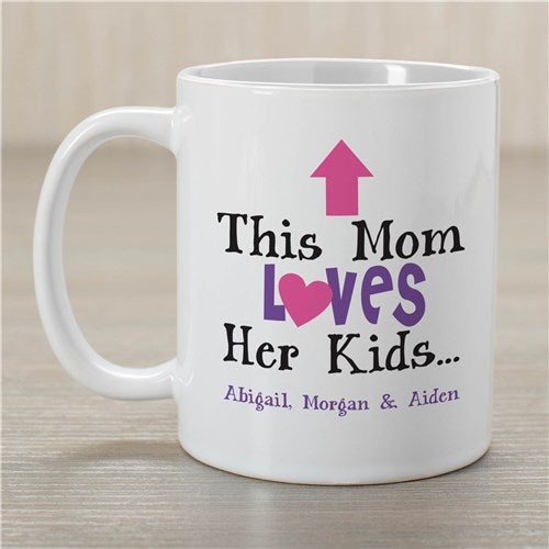 This Mom Loves Her Kids Personalized Mug