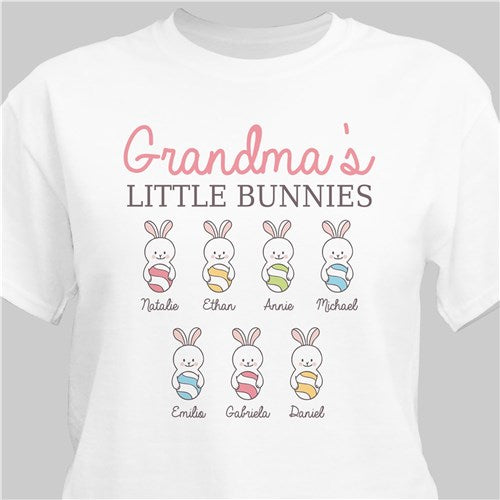 Personalized Grandma's Little Bunnies T-Shirt