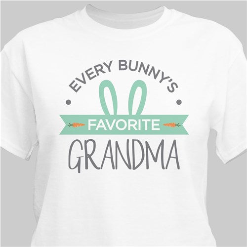 Personalized Every Bunny's Favorite Grandma T-Shirt