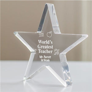 Personalized Engraved Teacher Star Keepsake