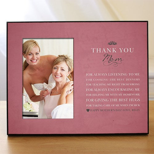 Personalized Thank You Mom Printed Frame