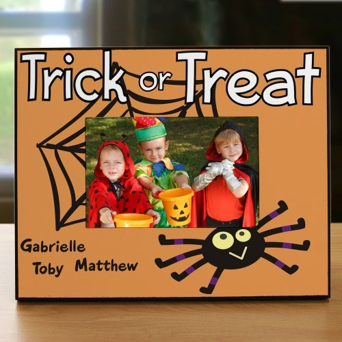 Personalized Trick or Treat Printed Frame