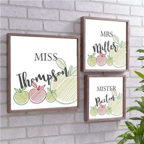 Personalized Teacher Wood Pallet Wall Decor