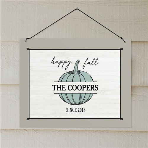 Personalized Happy Fall Wall Sign