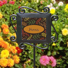 Fall Branches Family Garden Stake