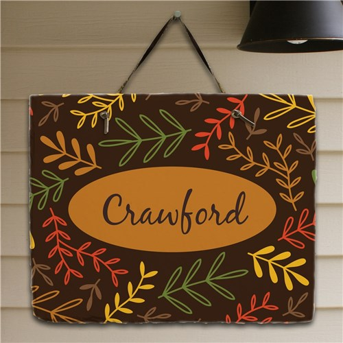 Fall Branches Slate Plaque