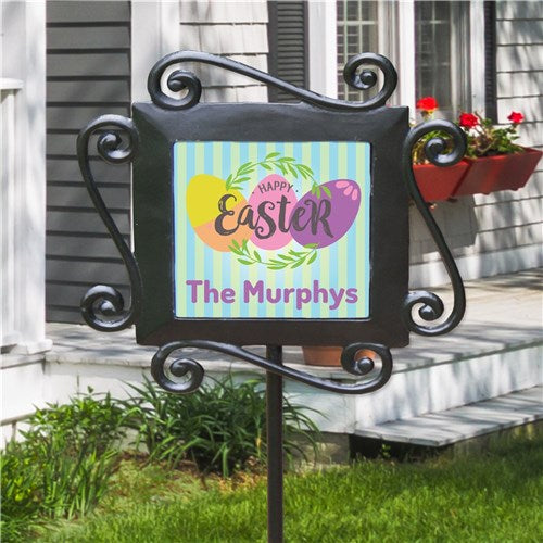 Personalized Easter Eggs Garden Stake