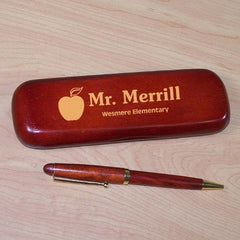 Personalized Teacher Rosewood Pen Set
