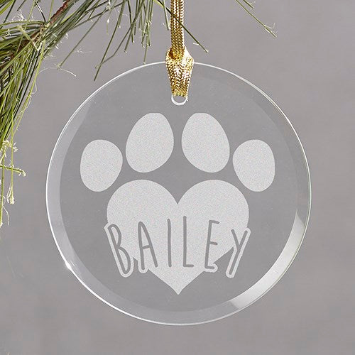 Pet Round Glass Ornament