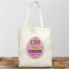Personalized Egg Hunter Easter Tote