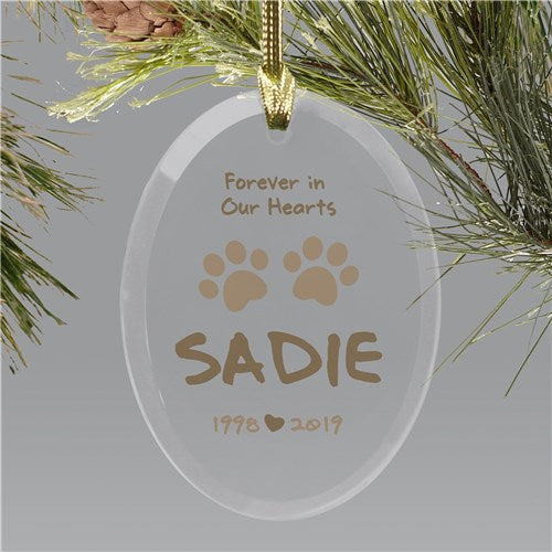 Forever in Our Heart Glass Ornament