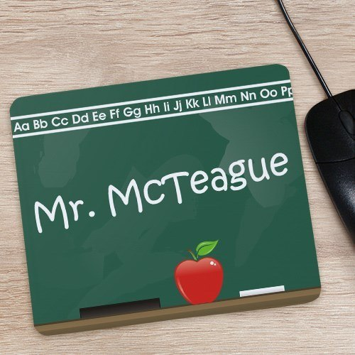 Personalized Teacher Mouse Pad -Chalkboard