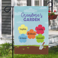 Personalized Grandma's Gard Yard Flag