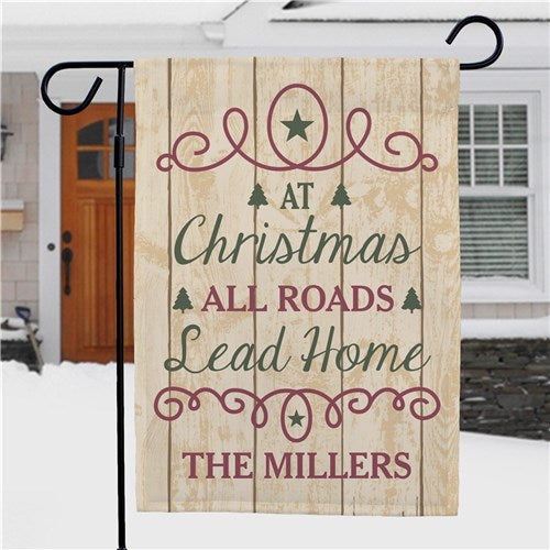 Personalized All Roads Lead Home Garden Flag