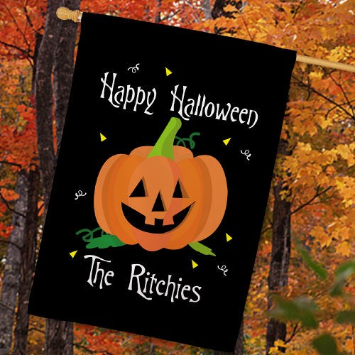 Personalized Halloween House Flag