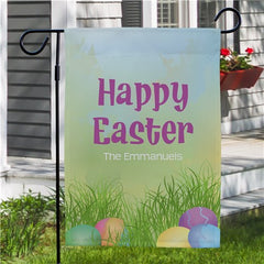 Happy Easter Personalized Garden Flag
