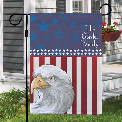 Personalized American Pride Garden Flag
