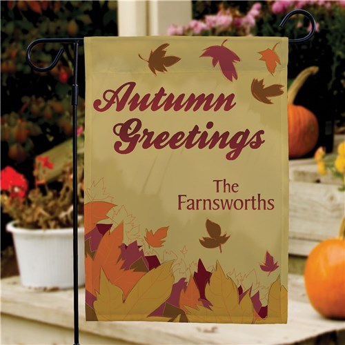 Personalized Autumn Garden Flag