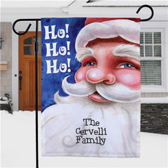 Personalized Santa Garden Flag