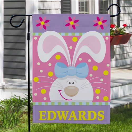 Easter Bunny Personalized Garden Flag