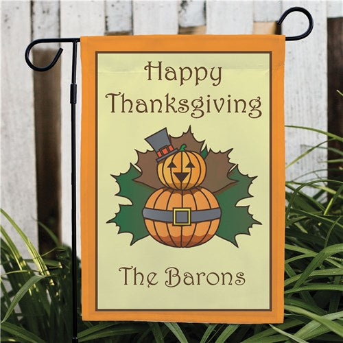 Personalized Thanksgiving Garden Flag