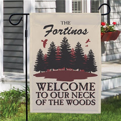 Personalized Neck Of The Woods Flag
