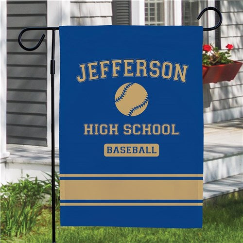 Personalized High School Sport Pride Garden Flag