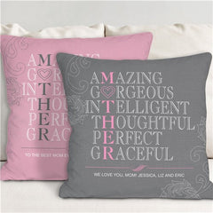Personalized Mother Throw Pillow