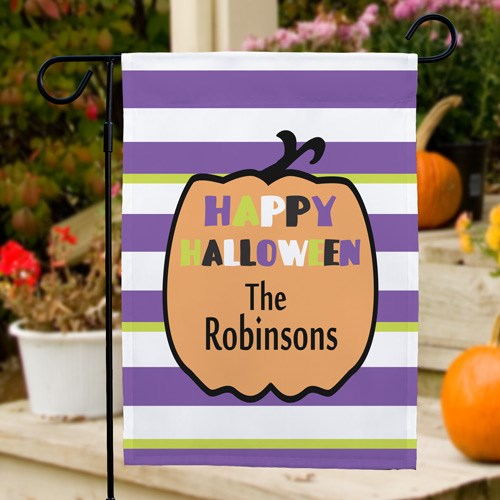 Personalized Halloween Garden Flag
