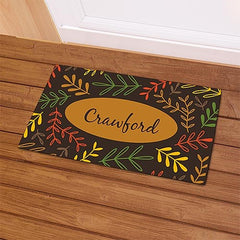 Personalized Fall Branches Family Name Doormat