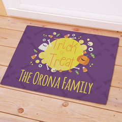 Personalized Trick or Treat Doormat