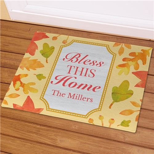 Personalized Bless This Home Welcome Mat