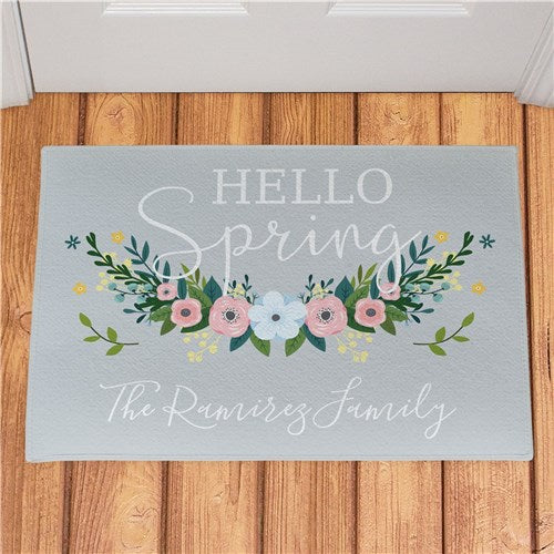 Personalized Hello Spring Doormat