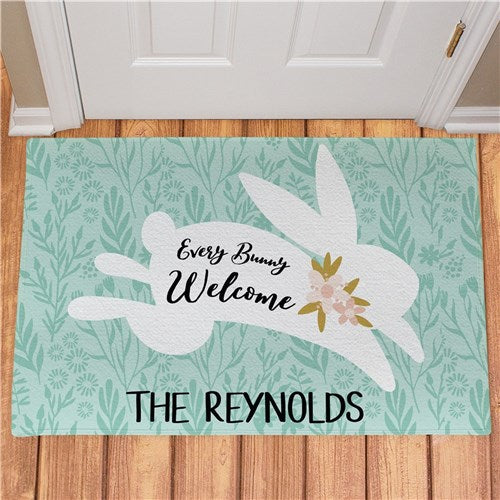 Personalized Every Bunny Welcome Doormat
