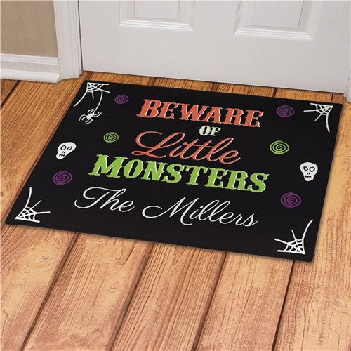 Personalized Beware of Little Monsters Doormat