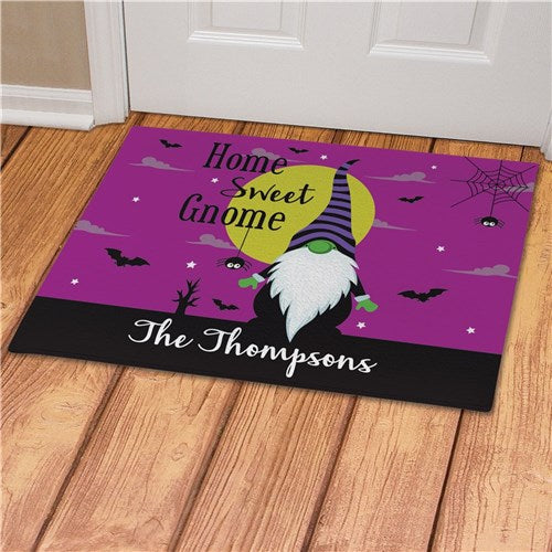 Personalized Halloween Gnome Doormat