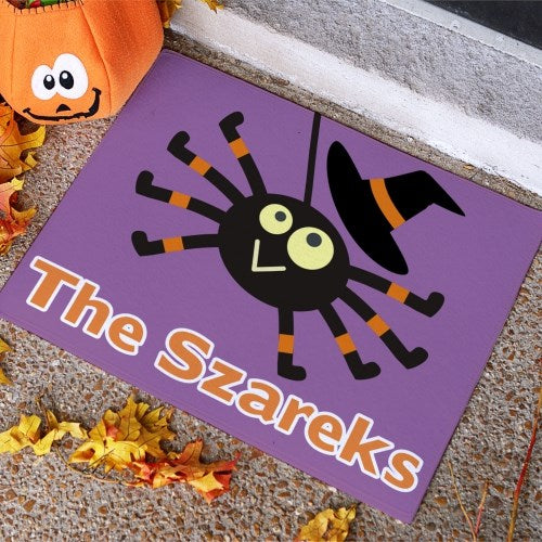 Personalized Halloween Spider Doormat