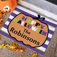 Personalized Happy Halloween Pumpkin Doormat