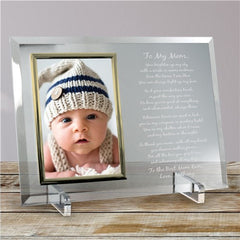 Personalized Mom Poem Glass Frame